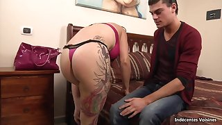 Inked french MILF Mary waggish porn video