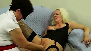 Magnificent Blonde Anal Fisting Toying