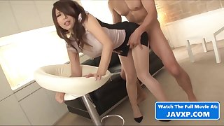 Hot Asian MILF Gets Fucked Not far from Covetous Dress