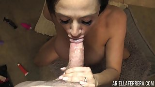 Right after fingering herself lord it over neonate Ariella Ferrera gives nice head