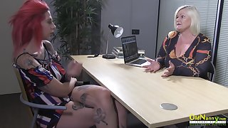 OldNannY Lacey Starr and Lesbian Mock-pathetic
