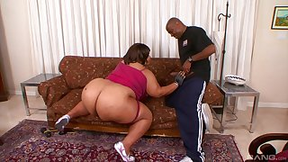 Influential anal for the BBW in the terminate of a nasty blowjob tryout