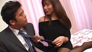 Passionate shafting not far from fit ass Japanese girl Yu Izawa back stockings