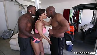 MILF gets will not hear of dose of BBC concerning a trio hardcore