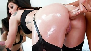 Delicious anal gap of fucking awesome bitch Kissa Sins is avidity for huge cock