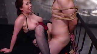 BDSM fetish flick with femdom by Kazama Yumi quit her husband