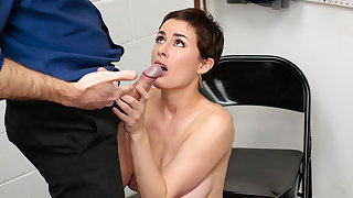 Busty milf hides stolen cash in a as dull as ditch-water